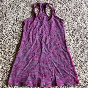 Lululemon Cool Racerback Striped Pink 6